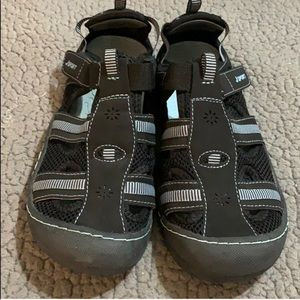 JSport Jambu Black/Blue Sport Sandals EUC